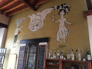 El Distilado bar mural food & drink